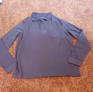 Croft&barrow blue long sleeve polo shirt